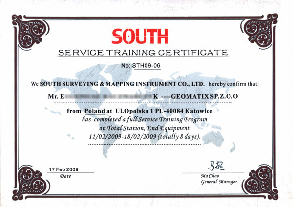 SOUTH Service Training 2009 - Tachimetry elektroniczne i osprzęt