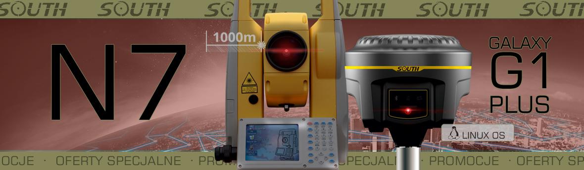 Promocja SOUTH tachimetr N7 i GPS GNSS geodezyjny GALAXY G1 Plus