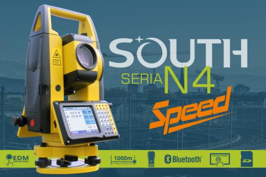 Tachimetr bezlustrowy N4 SOUTH, współpracuje z kontrolerami