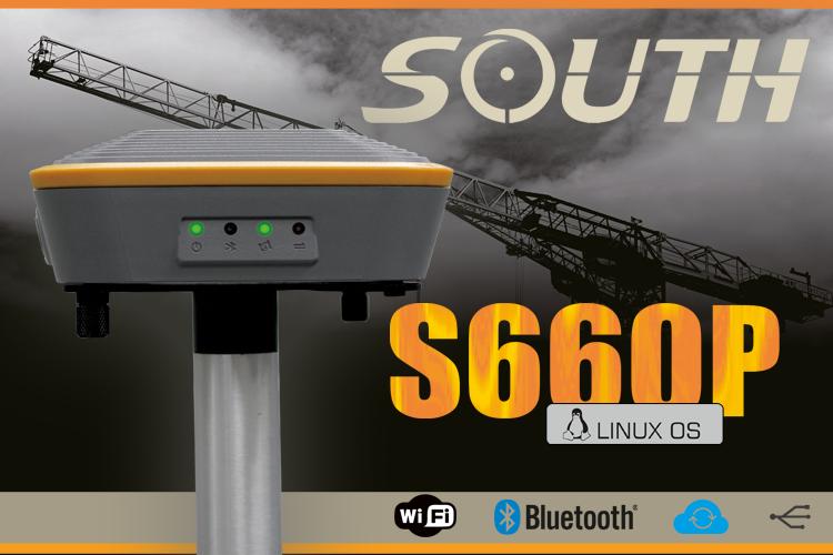 SOUTH S660P - odbiornik GPS GNSS geodezyjny do pomiarw RTK